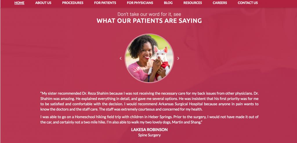 Thiết kế web chăm sóc sức khỏe
