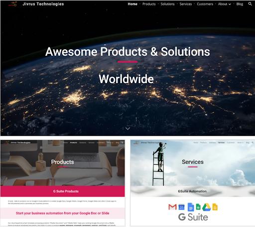 Website của Jivrus Technologies