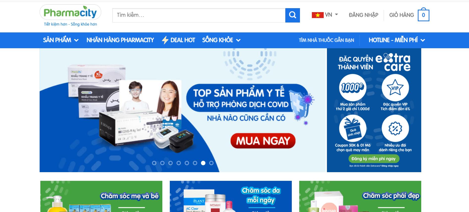 Website nhà thuốc Pharmacity