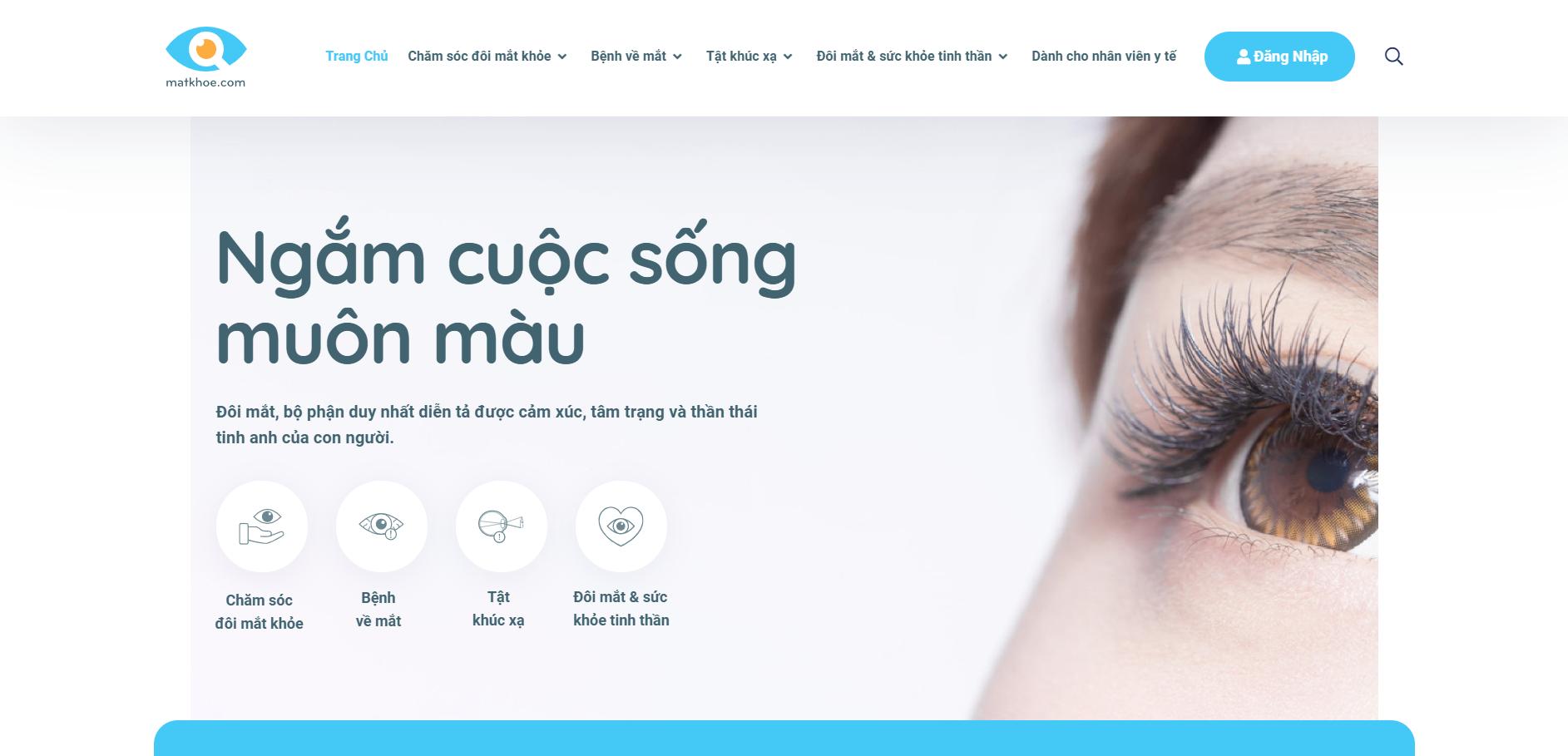 Website Mắt Khỏe: trang tin y tế chuyên cung cấp thông tin về mắt.